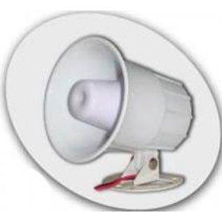 AZCO 15/20W ELECTRONIC SIREN 1 TONE/6 TONE, 12VDC, 115DB - WHITE