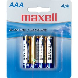 MAXELL AAA BATTERIES (BLISTER CARD) - 4 PACK
