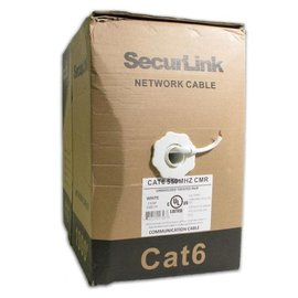 1000FT WHITE SOLID UTP CAT6 (550MHZ) NETWORK CABLE - FT4/CMG - TECHCRAFT