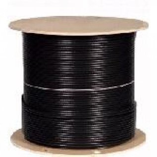 1000' RG6/U - INDOOR/OUTDOOR CABLE - 18AWG - FT4/CM - BLACK