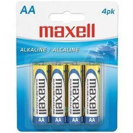 MAXELL AA BATTERY (BLISTER CARD) - 4 PACK