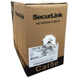 1000FT WHITE SOLID UTP CAT5E (350MHZ) NETWORK CABLE - FT4/CMR - SECURELINK