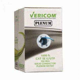 1000FT BLUE PLENUM SOLID UTP CAT5E (350MHZ) NETWORK CABLE - FT6/CMP - VERICOM