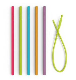 Silicone Reusable Straws 8.25""