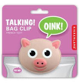 Kikkerland Talking Bag Clip