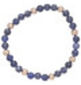 ENewton Sodalite Sincerity Pattern 6mm Bead Bracelet Gold
