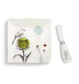 Demdaco Nibbles Plate with Spreader Set