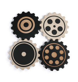Demdaco Gears Coaster Set