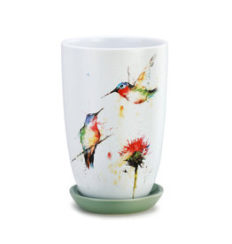 Demdaco Hummingbird Planter with Saucer