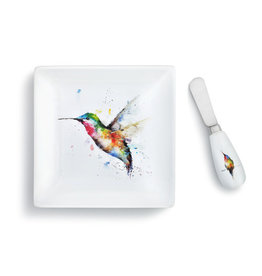 Demdaco Hummingbird Flower Plate / Spreader