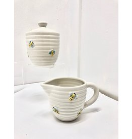 Ceramic Bee Sugar and Creamer Set