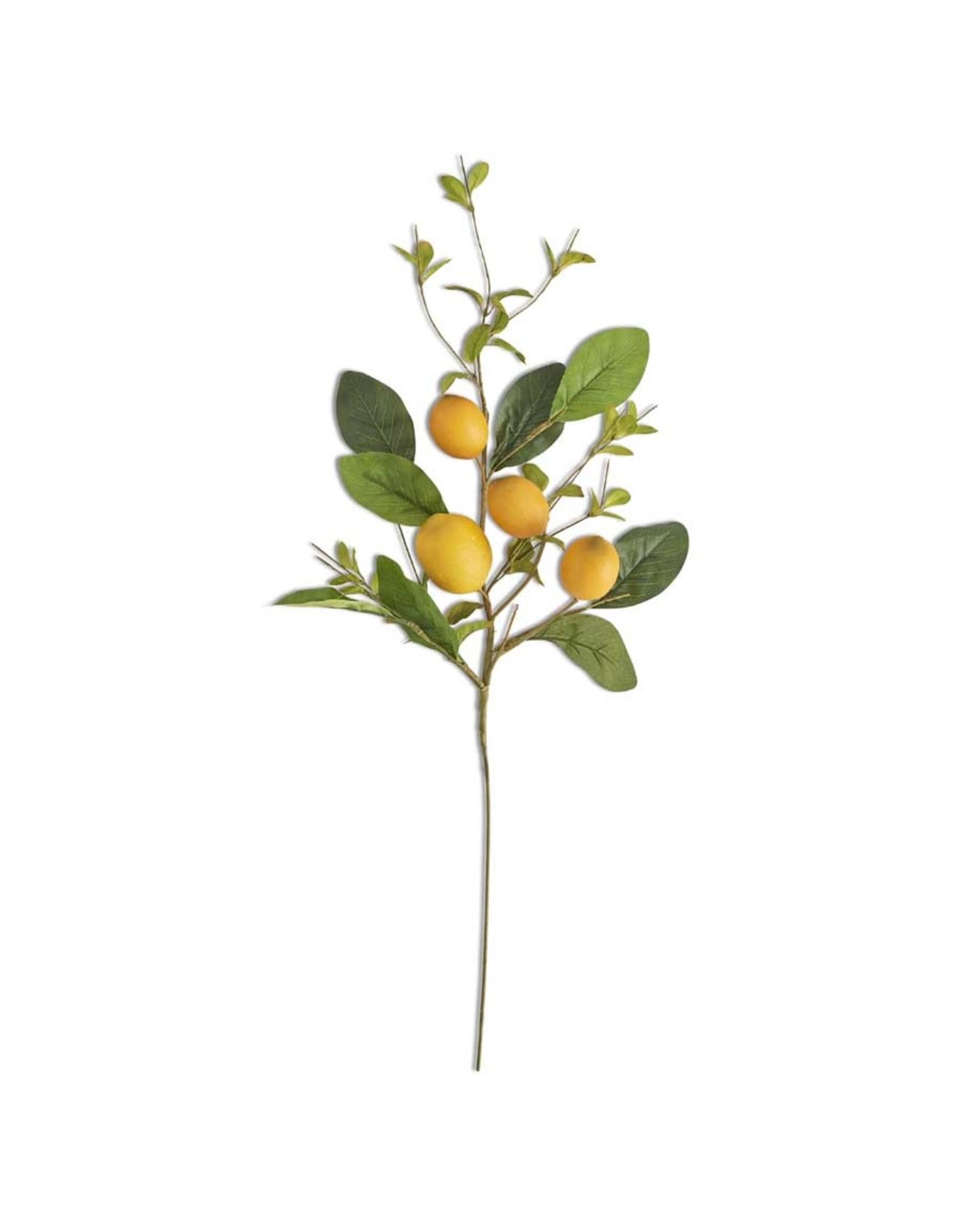 """K&K Interiors 28"""" Lemon Foliage Stem"""