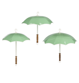 Ganz / Midwest / CBK Mint and White Hanging Umbrella Set / 3