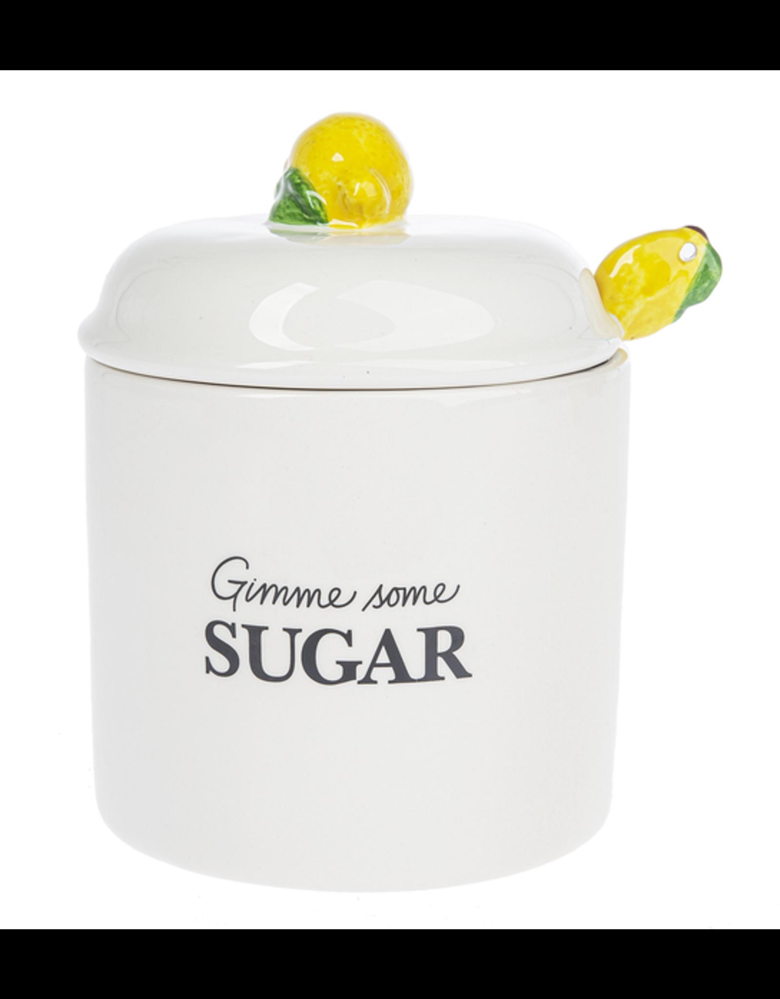 Ganz / Midwest / CBK Sugar Jar and Lid