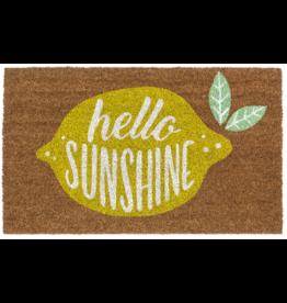"""Ganz / Midwest / CBK """"Hello Sunshine"""" Lemon Doormat"""