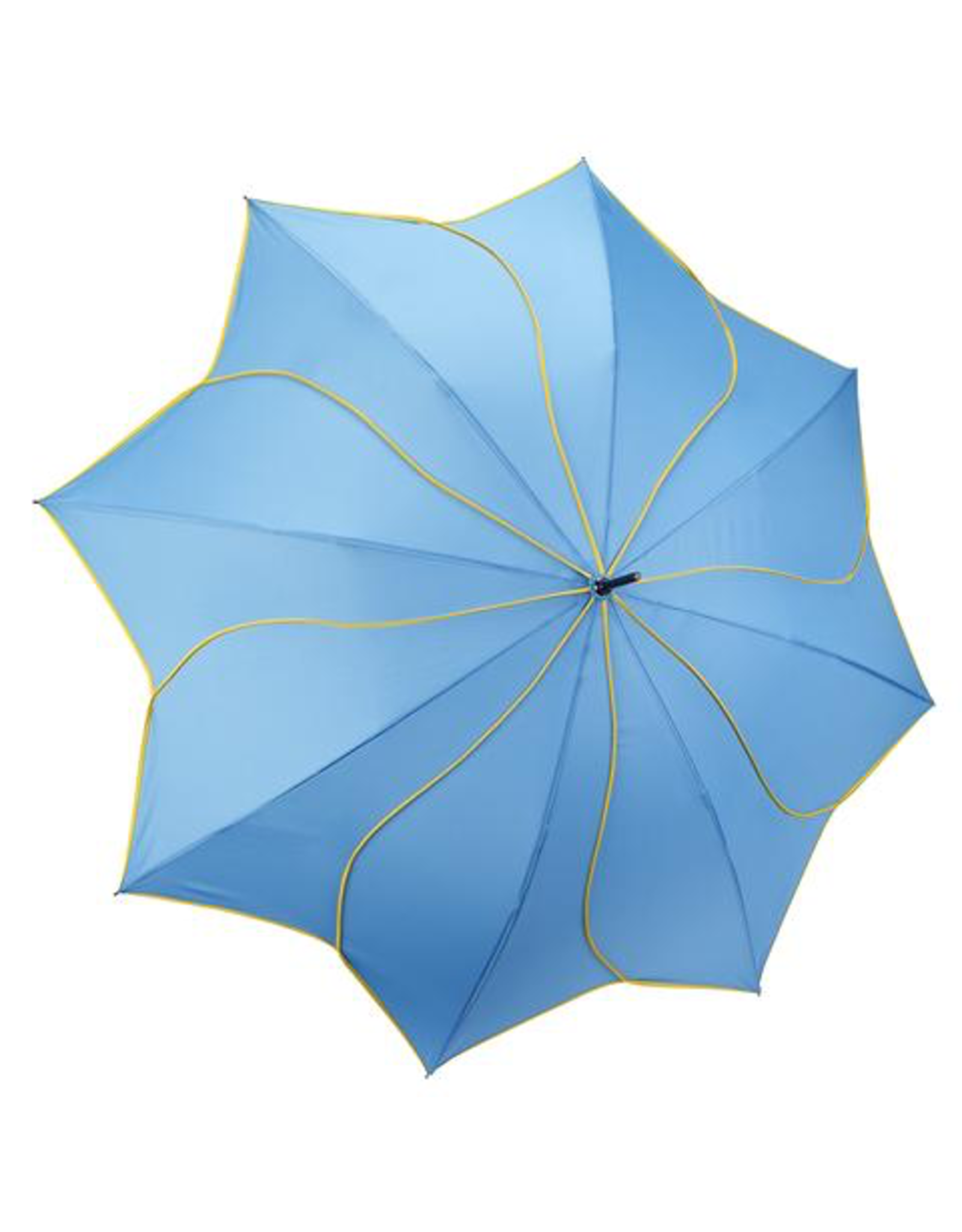 Galleria Enterprises Aqua and Yellow Swirl Umbrella
