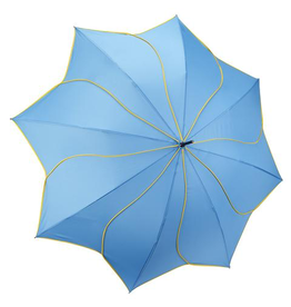 Galleria Enterprises Aqua and Yellow Swirl Umbrella