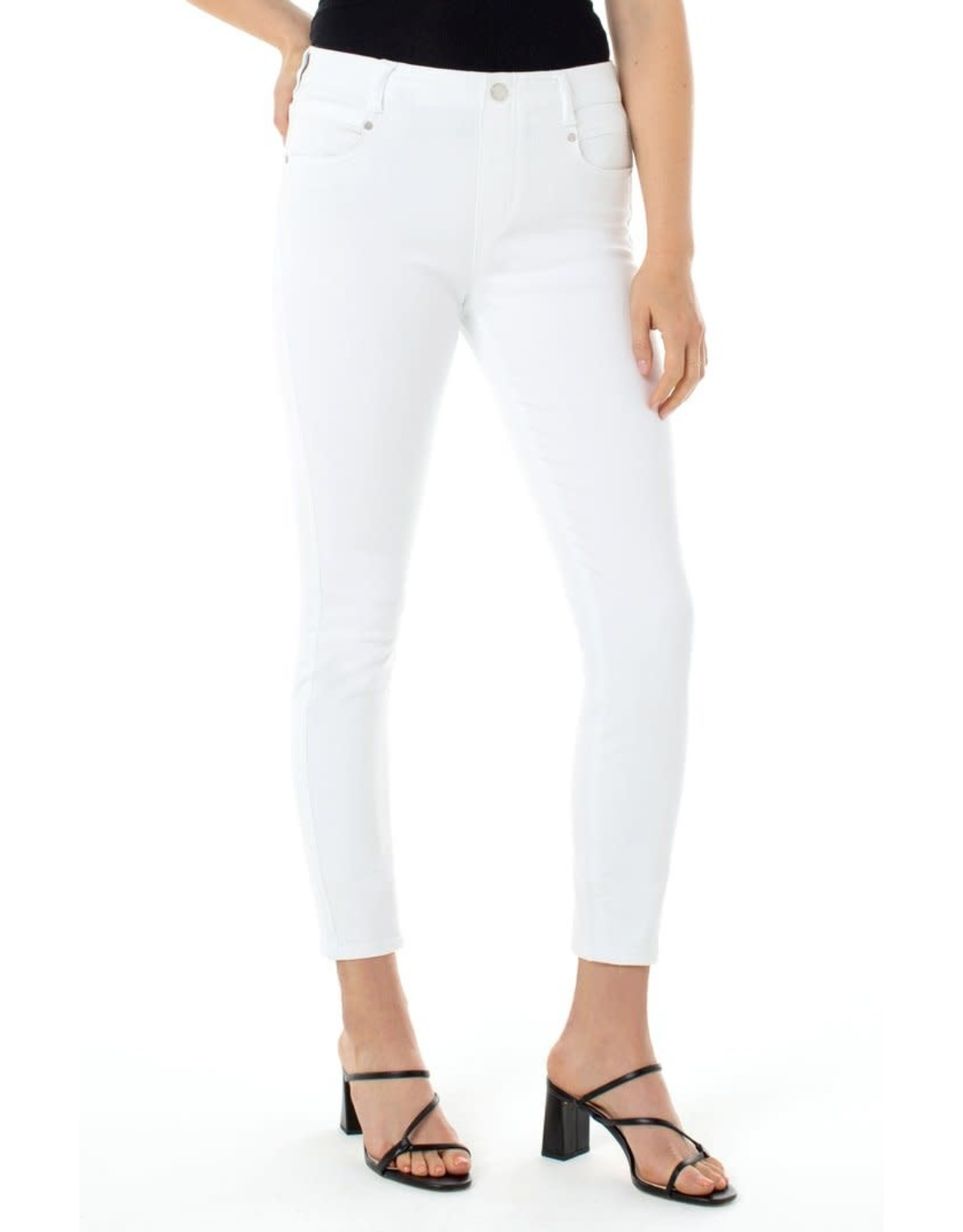 LIVERPOOL Bright White Gia Glider Crop Skinny Pull On