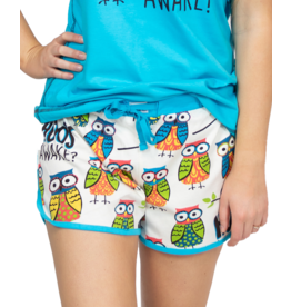 "Lazy One ""Hoo's Awake"" Pj Shorts"