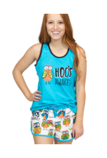 "Lazy One ""Hoo's Awake"" Pj Top"