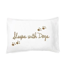 """Faceplant """"Sleeps With Dogs"""" Pillow Case"""