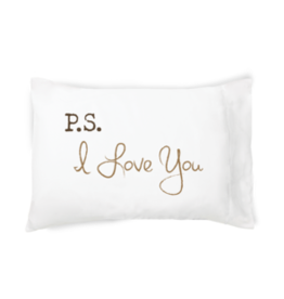 """Faceplant """"P.S. I Love You"""" Pillow Case"""