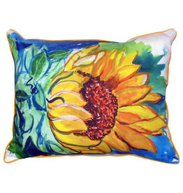 Betsy Drake Interiors Windy Sunflower Pillow