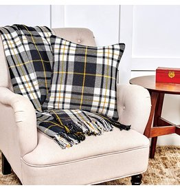 C&F Enterprise Parker Black and Yellow Throw
