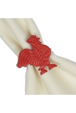 DII Red Rooster Napkin Ring