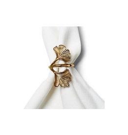 Tag Gold Leaf Napkin Ring Set of 4