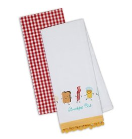 DII Breakfast Club Dishtowel Set of 2