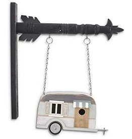 K&K Interiors Vintage Camper Bird House Arrow