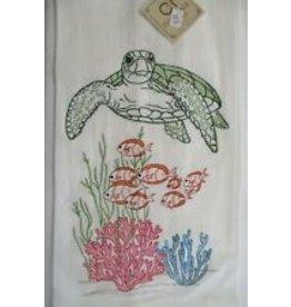 C&F Enterprise Ocean Life Dish Towel