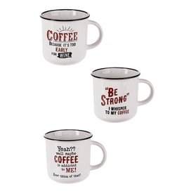 "Ganz / Midwest / CBK ""Be Strong, I Whisper To My Coffee"" Mug"