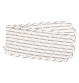 C&F Enterprise Ticking Stripe Clay Double Oven Mit