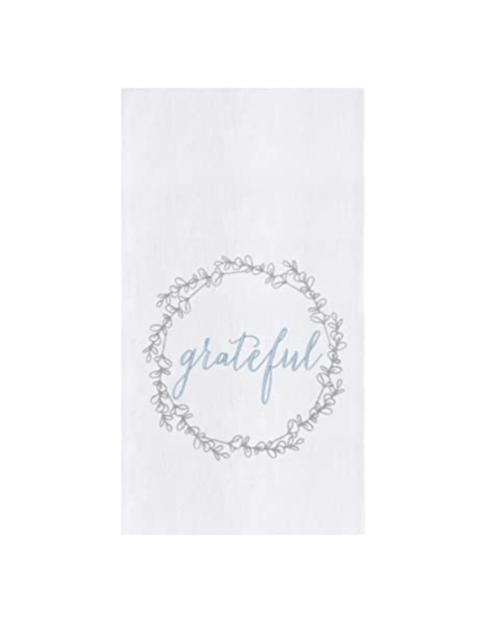 "C&F Enterprise ""Grateful"" Wreath Dish Towel"