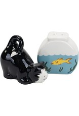 DII Cat and Fish Bowl Salt and Pepper Shakers