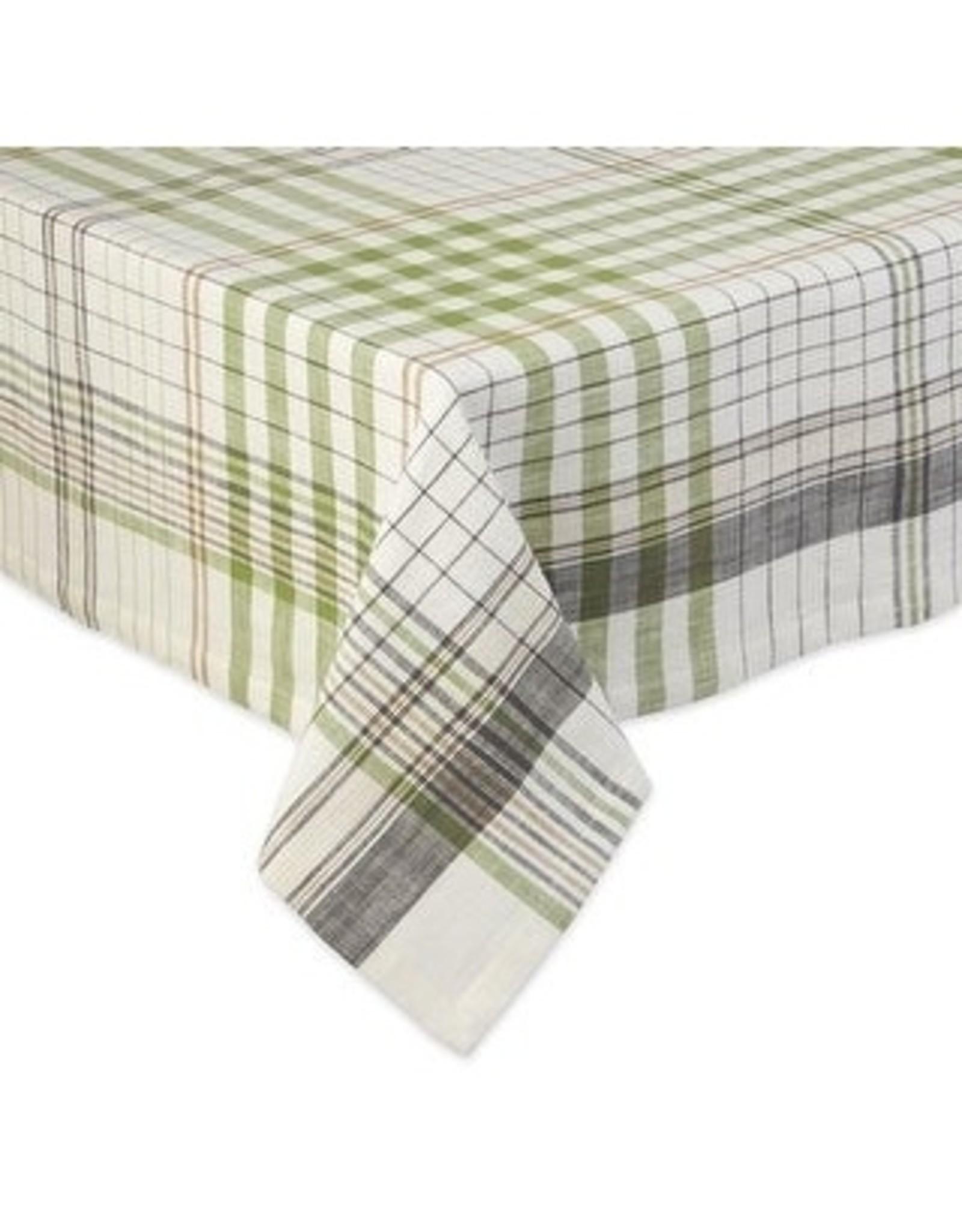DII Herb Garden Plaid Tablecloth