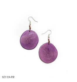 Tagua Oro Earring Purple