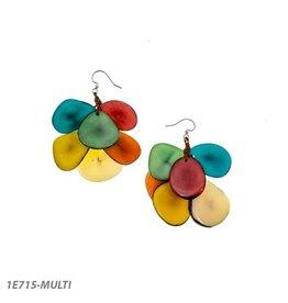 Tagua Mariposa Earrings Multi