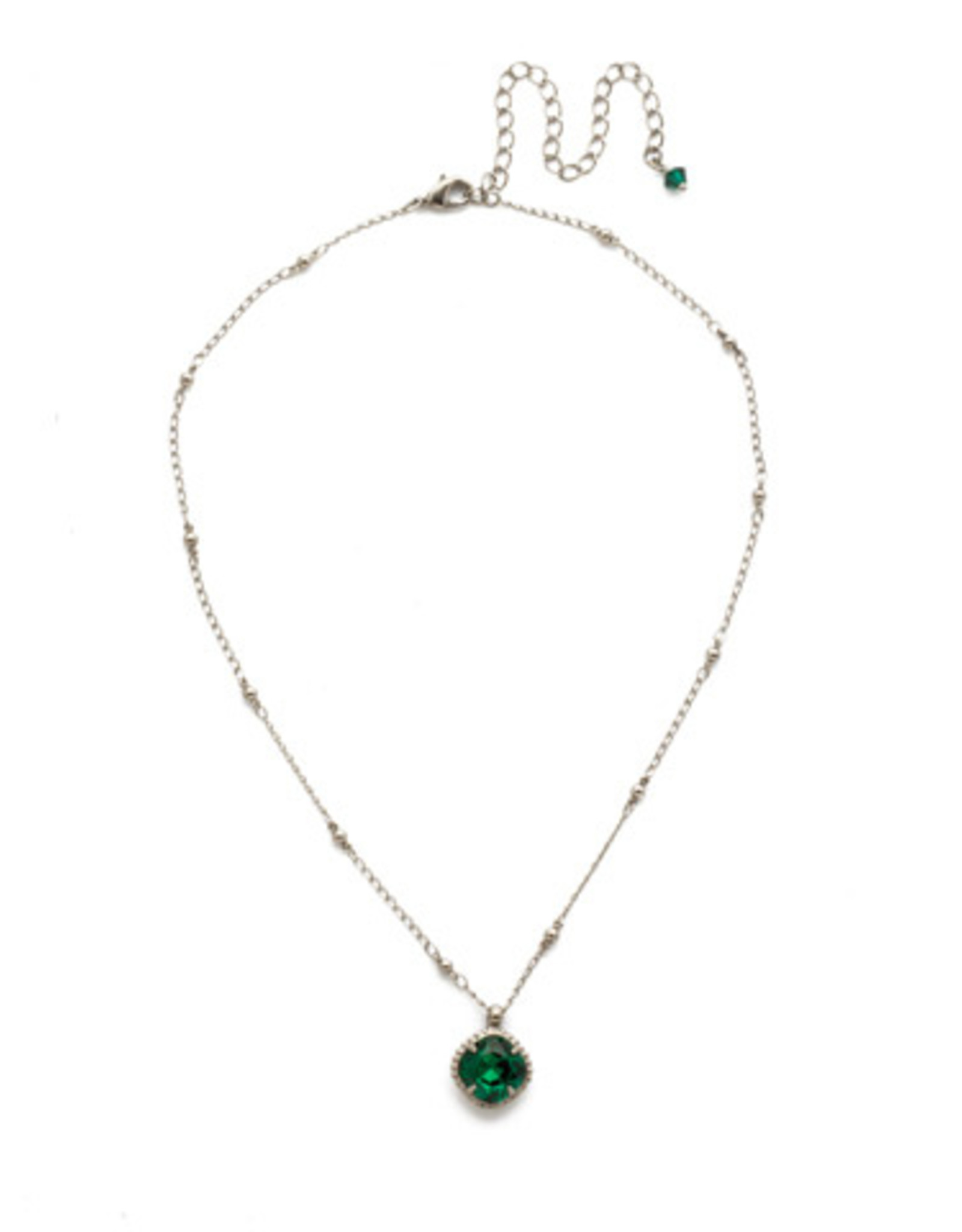 Sorrelli Mossy Green crystal solitaire Necklace