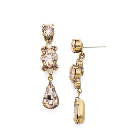 Sorrelli Pink Crystal Drop Earrings
