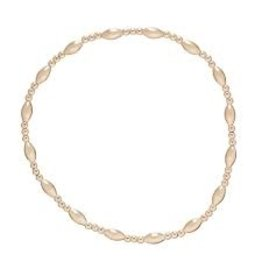 ENewton Gold Harmony Sincerity Pattern 4MM Bead Bracelet