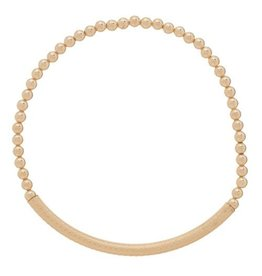ENewton Gold Bliss Bar Textured Bead Bracelet 3MM
