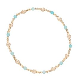 ENewton Dignity Sincerity Pattern Bead Bracelet Amazonite