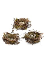 K&K Interiors Nest with Eggs Set