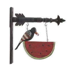 K&K Interiors Black Americana Crow on Watermelon Arrow Replacement