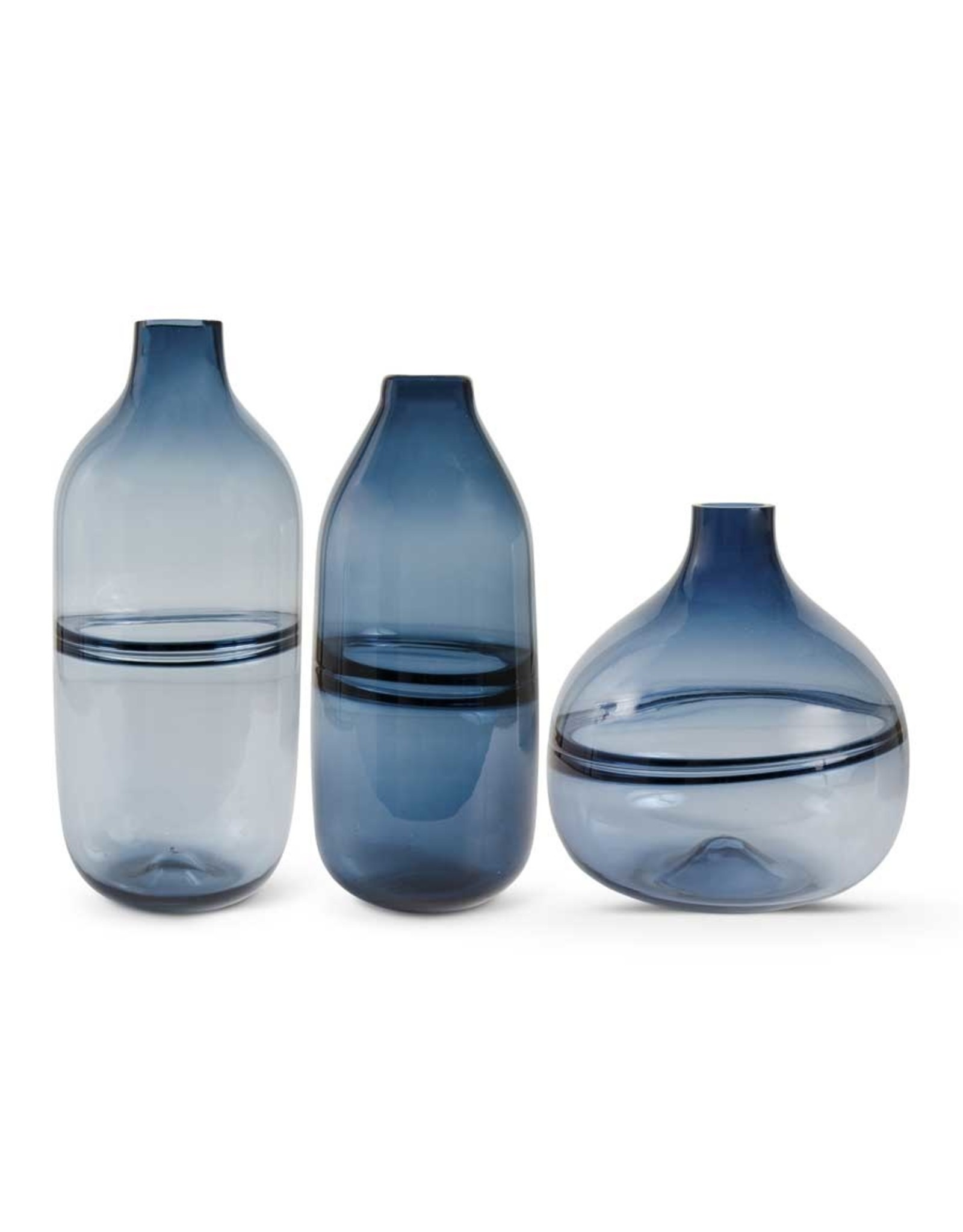 "K&K Interiors 14.5"" Purrisan Blue Glass Vase"