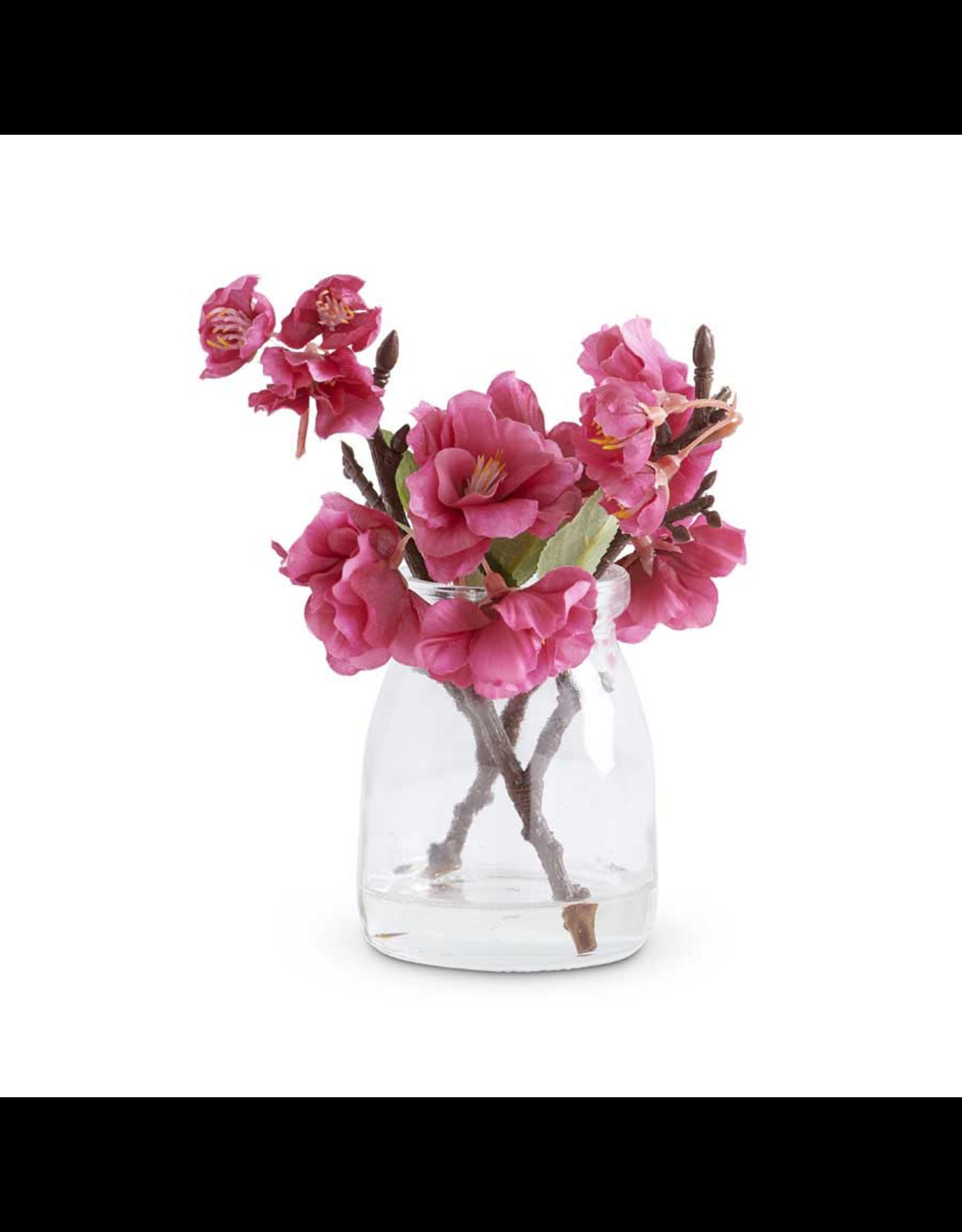"K&K Interiors Cherry Blossom Glass Jar 6.5"""