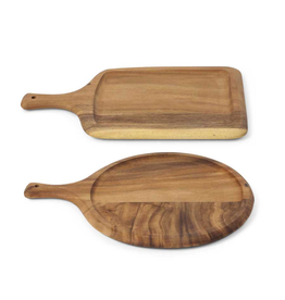 K&K Interiors Round Cutting Board with Handle